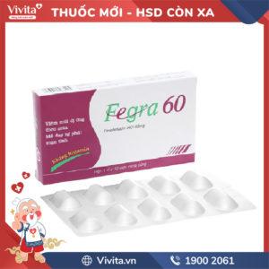 Thuốc chống dị ứng Fegra 60mg Hộp 10 viên