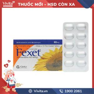 Thuốc chống dị ứng Fexet 60mg Hộp 10 viên