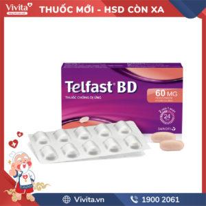 Thuốc chống dị ứng Telfast BD 60mg Hộp 10 viên