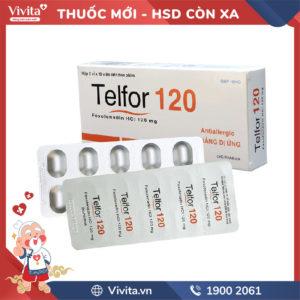 Thuốc chống dị ứng Telfor 120mg Hộp 20 viên