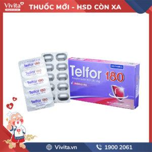 Thuốc chống dị ứng Telfor 180mg Hộp 20 viên