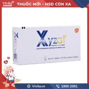 Thuốc chống dị ứng Xyzal 5mg Hộp 10 viên