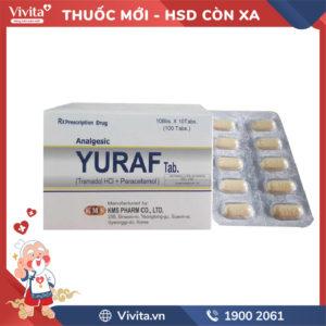 Thuốc giảm đau Yuraf Tab Hộp 100 viên