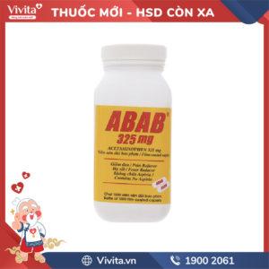 Thuốc giảm đau, hạ sốt Abab 325mg Chai 1000 viên