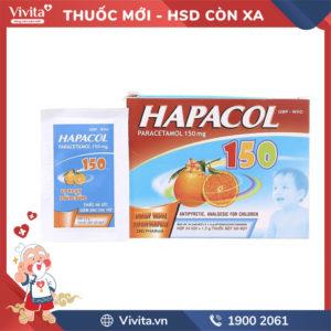 Thuốc giảm đau, hạ sốt cho trẻ em Hapacol 150mg Hộp 24 gói