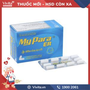 Thuốc giảm đau, hạ sốt MyPara ER 650mg Hộp 100 viên