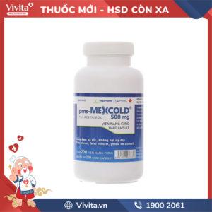 Thuốc giảm đau, hạ sốt pms-Mexcold 500mg Chai 200 viên