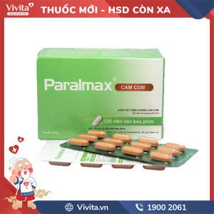 Thuốc giảm đau hạ sốt Paralmax Cảm cúm 500mg Hộp 120 viên