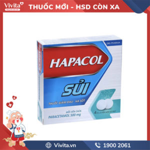Viên sủi giảm đau, hạ sốt Hapacol 500mg Hộp 16 viên