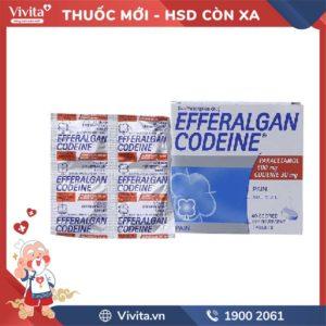 Viên sủi giảm đau, hạ sốt Efferalgan Codeine Hộp 40 viên