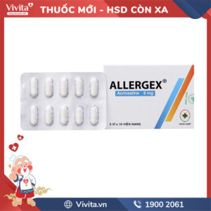 Thuốc chống dị ứng Allergex 8mg Hộp 50 viên