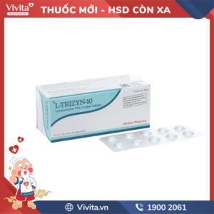 Thuốc chống dị ứng L-Trizyn 10mg Hộp 100 viên