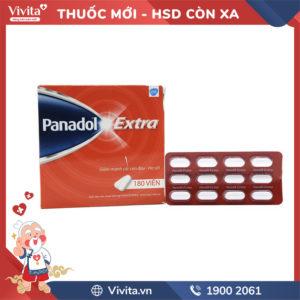 Thuốc giảm đau, hạ sốt Panadol Extra Hộp 180 viên.