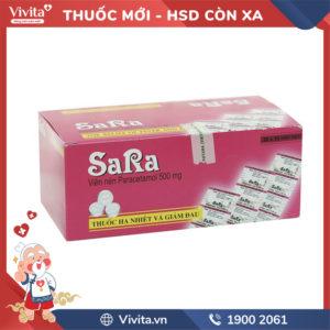 Thuốc giảm đau, hạ sốt Sara 500mg Hộp 200 viên
