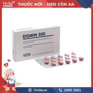 Thuốc trị trĩ, suy giãn tĩnh mạch Dismin 500 Hộp 30 viên
