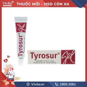 Gel trị nhiễm khuẩn Tyrosur tuýp 5g