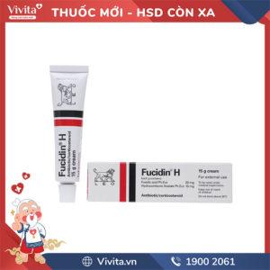 Kem bôi trị viêm da Fucidin H 15g