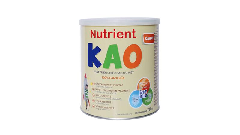 Sữa tăng chiều cao cho bé 6 tuổi Nutrient Kao