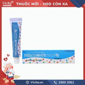 Thuốc mỡ trị viêm da Philclobate 15g
