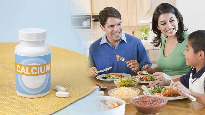 Uống canxi sau bữa ăn 30 -60 phút