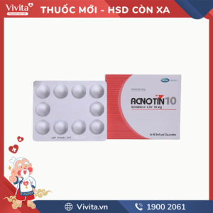 Thuốc trị mụn trứng cá nặng Acnotin 10mg