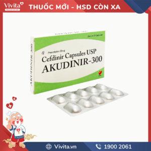 Thuốc kháng sinh trị nhiễm khuẩn Akudinir - 300