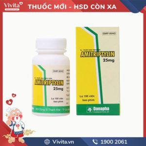 Thuốc trị trầm cảm Amitriptylin 25mg