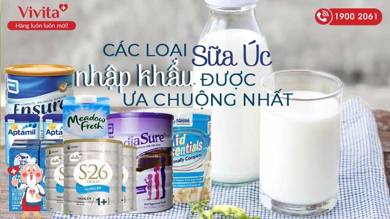 các loại sữa úc nhập khẩu