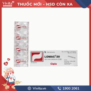 Thuốc trị loét dạ dày, tá tràng Lomac 20