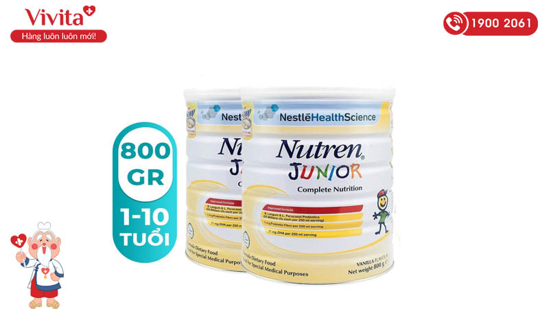 Sữa Nutren Junior cho trẻ 1-10 tuổi