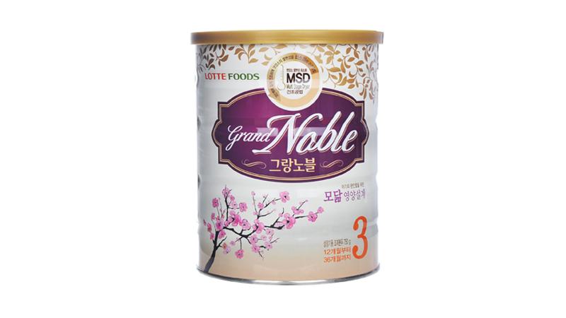 Grand Noble với công thức dinh dưỡng toàn diện giúp trẻ tăng cân, cải thiện sức đề kháng