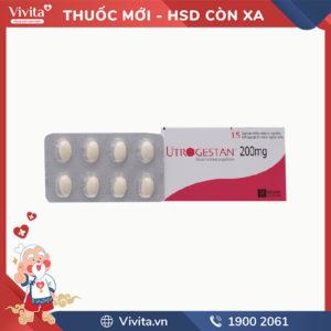 Thuốc bổ sung progesteron Utrogestan 200mg