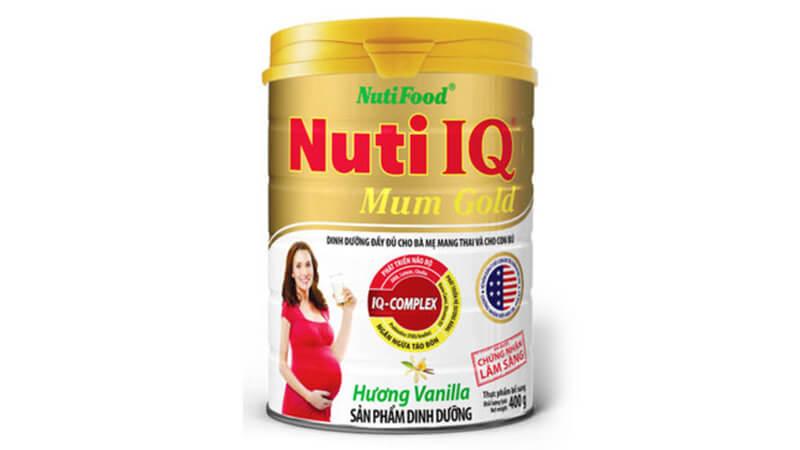 Sữa bột NutiFood Nuti IQ Mum Gold hương vani
