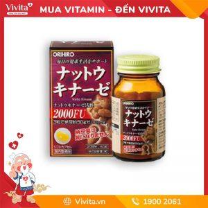 Viên uống chống đột quỵ Nattokinase 2000FU Orihiro Nhật Bản