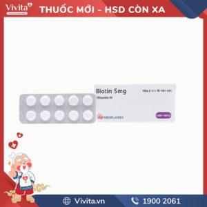 Thuốc bổ sung vitamin H Biotin 5mg
