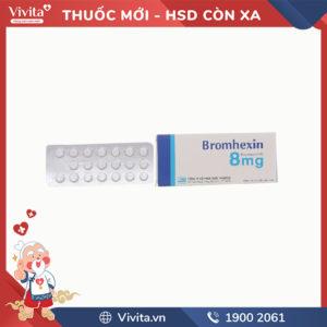 Thuốc long đờm Bromhexin 8mg