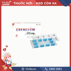 Thuốc kháng sinh trị nhiễm khuẩn Cefaclor 375mg