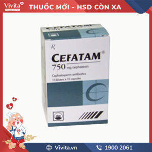 Thuốc kháng sinh trị nhiễm khuẩn Cefatam