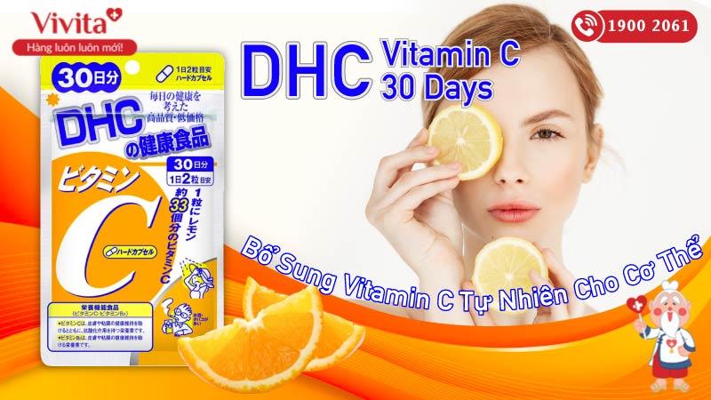 dhc vitamin c 30 days có tốt không