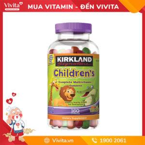 kẹo dẻo dinh dưỡng Kirkland Children's Multivitamin hộp 160v