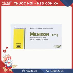 Thuốc kháng viêm Menison 16mg