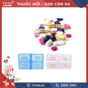 Hộp phân liều thuốc 4 ngăn lớn