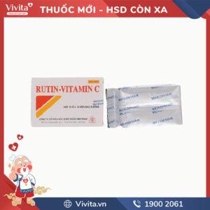 Thuốc làm tăng sức bền thành mạch Rutin-Vitamin C