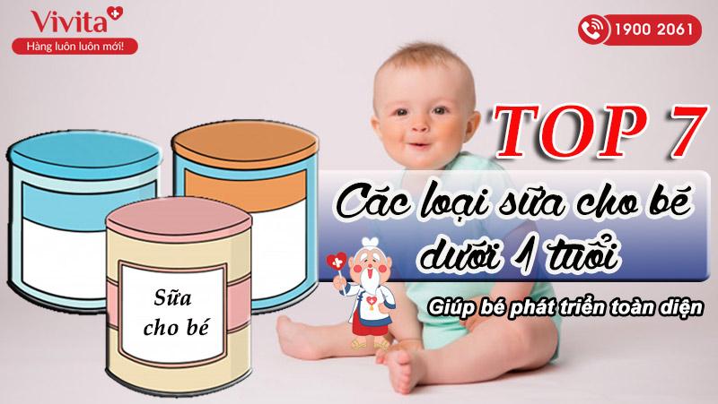 sữa cho bé dưới 1 tuổi