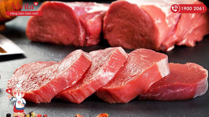 Thịt đỏ là thức ăn cực tốt cho nam giới bị tinh trùng dị dạng