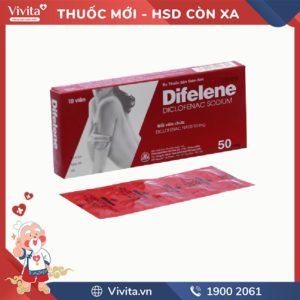Thuốc giảm đau, kháng viêm Difelene 50mg