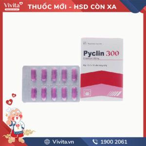 Thuốc kháng sinh trị nhiễm khuẩn Pyclin 300