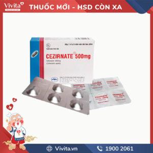 Thuốc kháng sinh trị nhiễm khuẩn Cezirnate 500mg