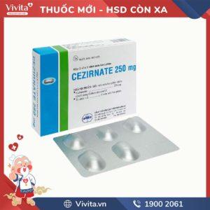 Thuốc kháng sinh trị nhiễm khuẩn Cezirnate 250mg