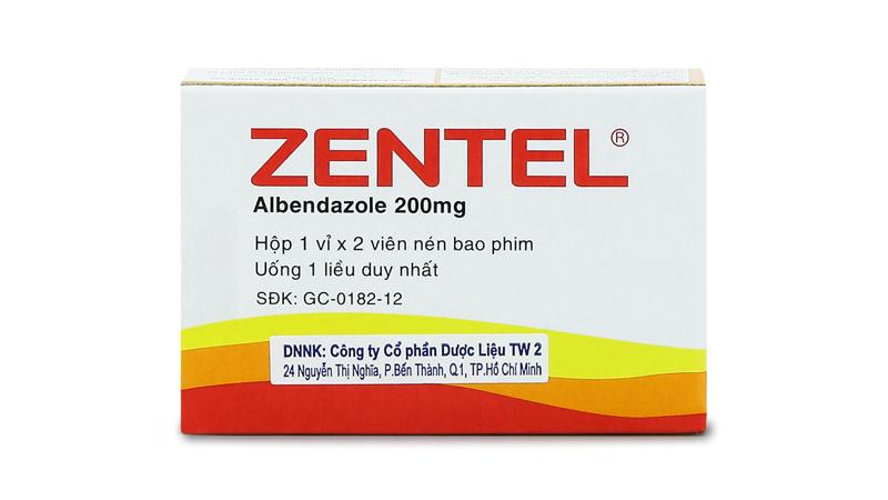 Thuốc tẩy giun Zentel (Albendazol)